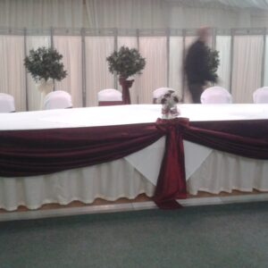 table draping