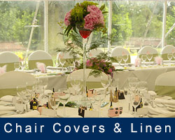 Chair covers and table linen Hire