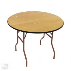 3ft round folding table