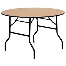 5ft round folding table
