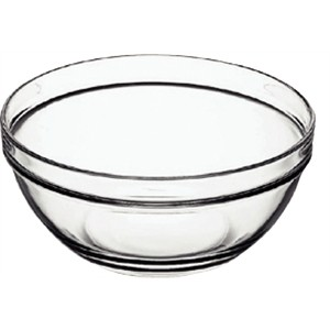 7 inch glass salad bowl