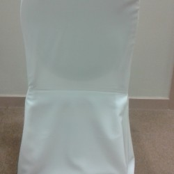 Traditional white chair cover